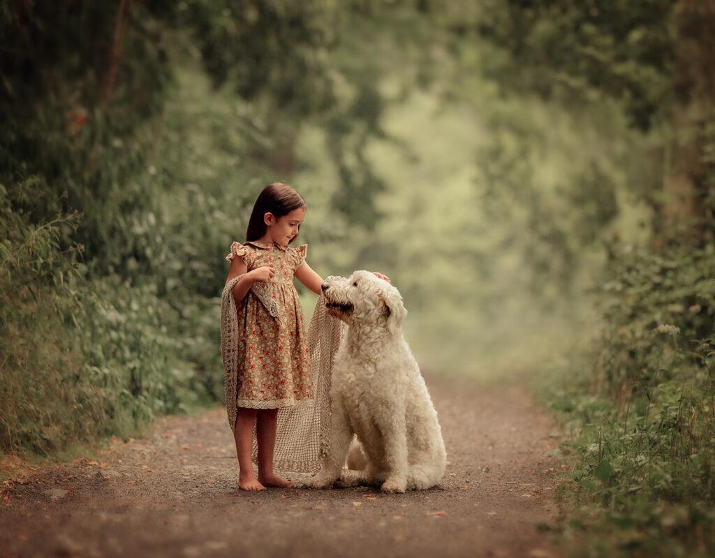 Familien Kinder Fotoshooting Mit Haustier