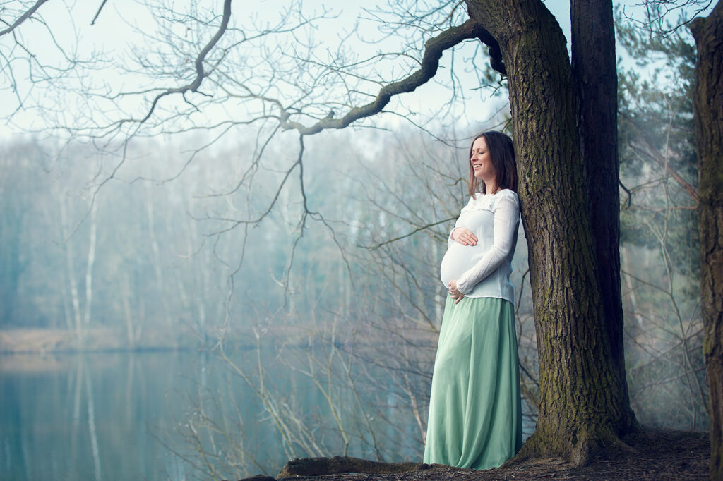 Winter Babybauch Fotoshooting