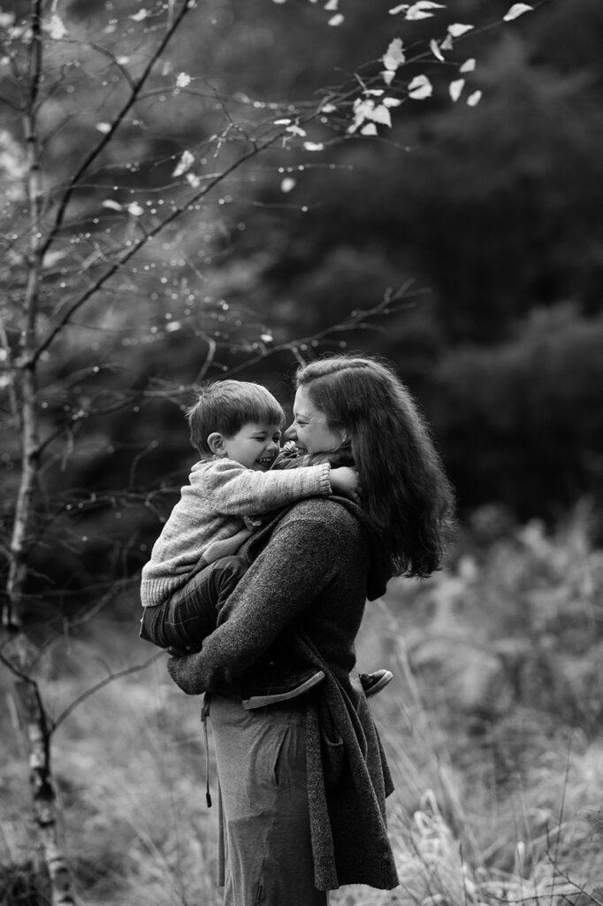 Fotoshooting Mutter mit Sohn