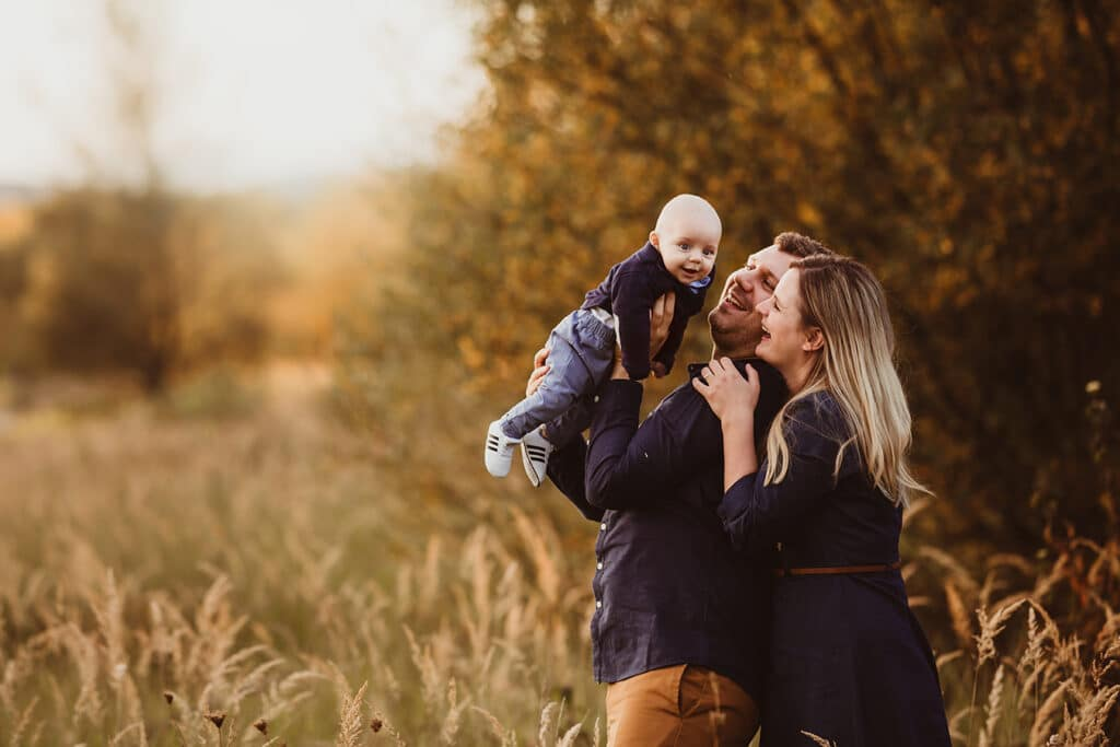 familienshooting im herbst mit baby
