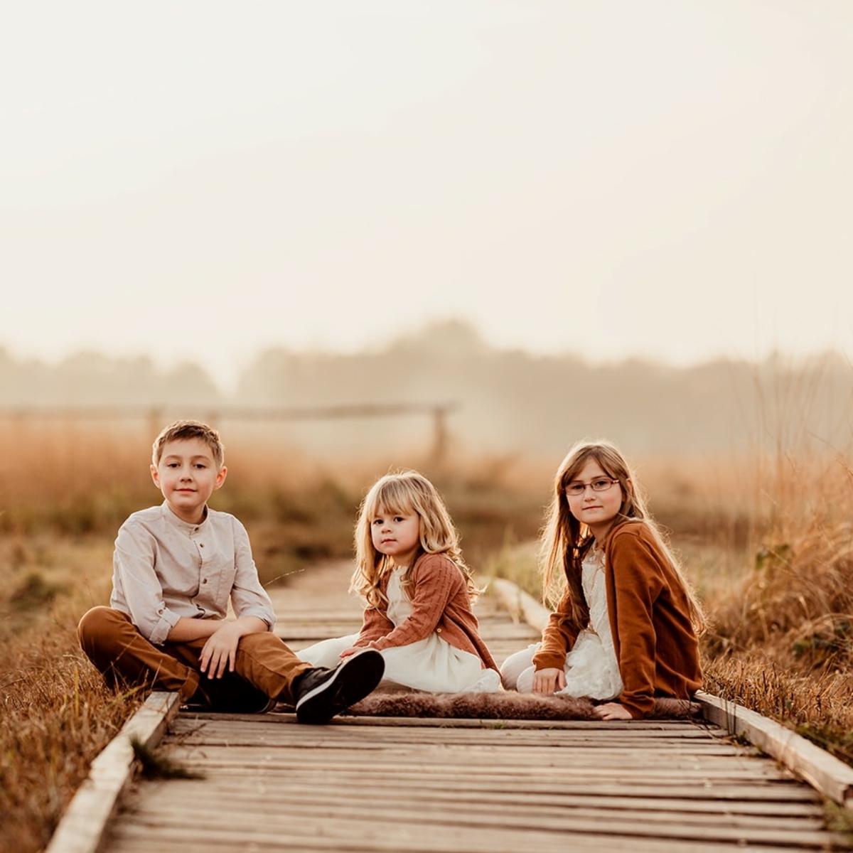 Kinder Foto Outdoor bei einem Familienfotoshootig in Hille und Kalletal